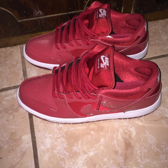 buy popular b39f2 fe135 ... denmark nike sb dunk low red patent leather 40598 86d43
